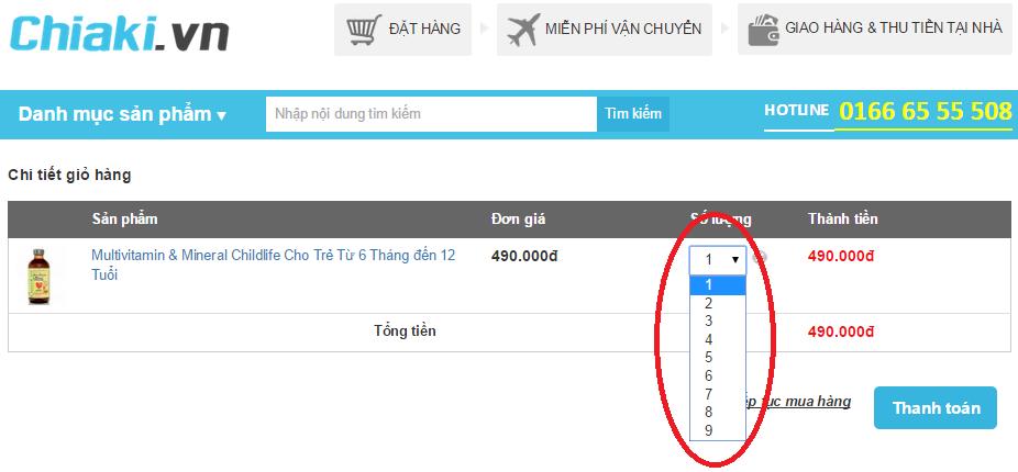 Làm thế nào để mua hàng/đặt hàng tại CHIAKI.VN 4