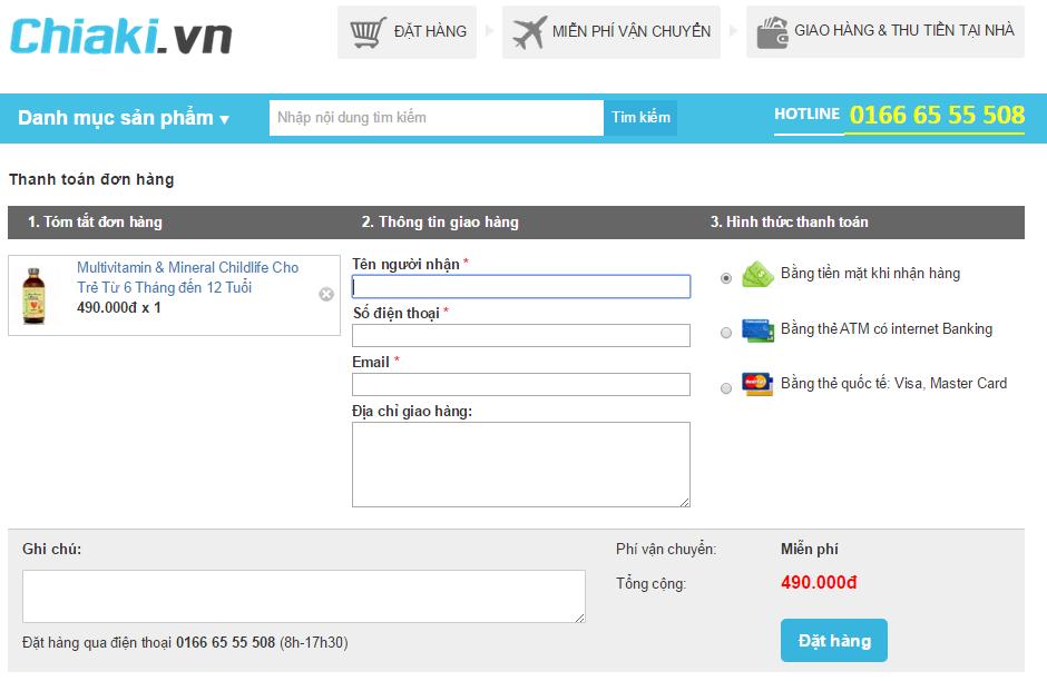 Làm thế nào để mua hàng/đặt hàng tại CHIAKI.VN 5