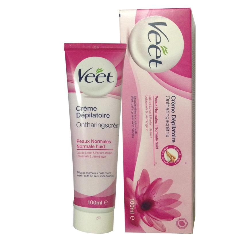 Kem tẩy lông Veet pháp 100ml dành cho da thường - hiệu quả sau 3 phút