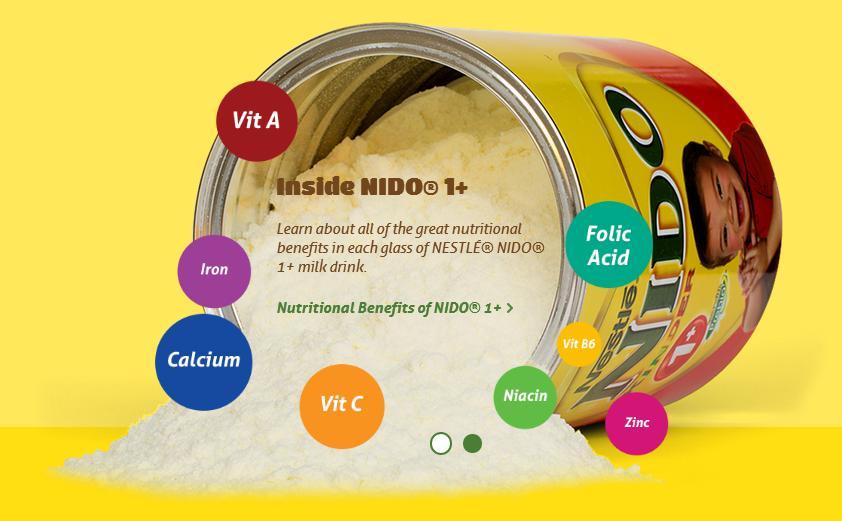 Sữa nido 1+ nắp đỏ bổ sung 13 loại vitamin, khoáng chất cần thiết cho bé