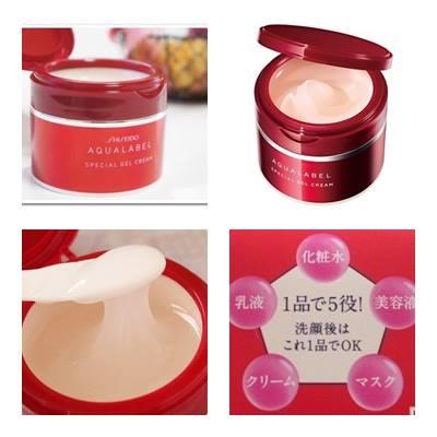 Kem dưỡng da ban đêm Shiseido Aqualabel đỏ cho làn da đẹp hoàn hảo