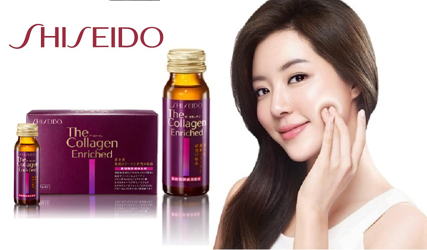 Kết quả hình ảnh cho nước uống collagen shiseido enriched