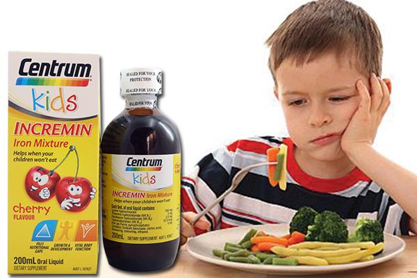 Siro Centrum Kids 200ml Incremin Iron Mixture của Úc cho trẻ biếng ăn