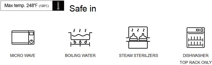 Núm bình Comotomo an toàn với lò vi sóng