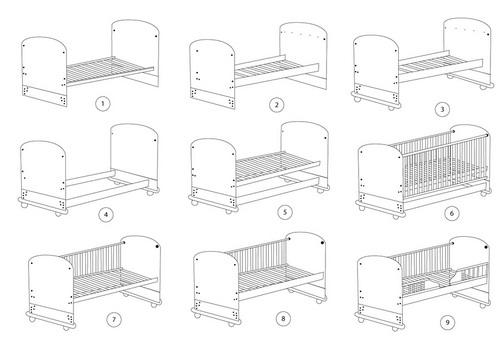 9 mẫu giường khác nhau của giường cũi Teddy 9 trong 1