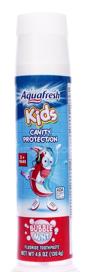 Kem Đánh Răng Aquafresh Kids 130.4g (cho trẻ 2 tuổi trở lên)
