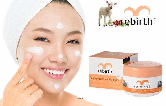 Kem nhau thai cừu Rebirth anti wrinkle bổ sung vitamin E dưỡng ẩm, da mịn màng