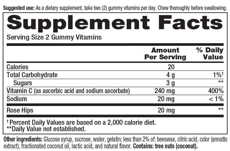 Chỉ với 2 viên kẹo dẻo mỗi ngày để có thể bổ sung lượng vitamin C cần thiết cho cơ thể