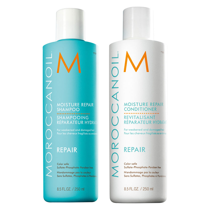 Bộ dầu gội Moroccanoil phục hồi tóc hư tổn hiệu quả