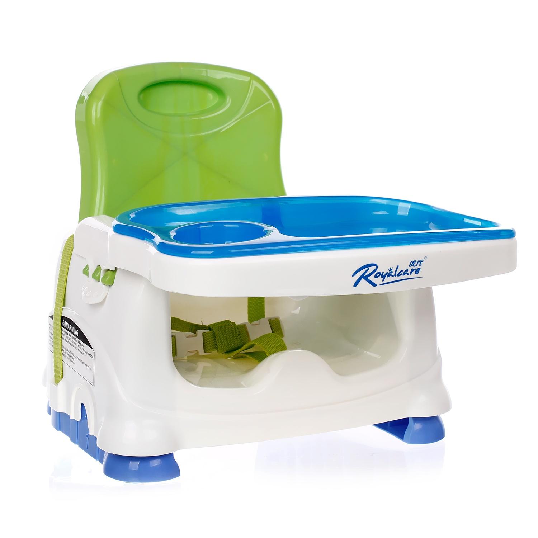 Ghế ăn cho bé Royalcare được làm từ chất liệu nhựa an toàn, bền bỉ
