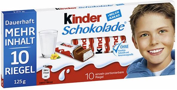 Hộp kẹo socola Kinder dạng thanh (10 thanh)