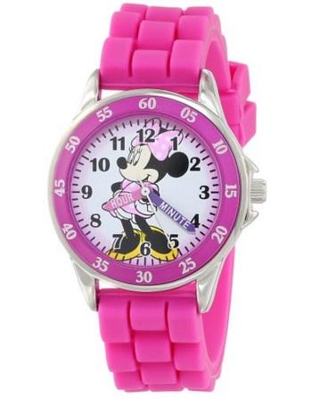 Mặt đồng hồ in hoa tiết chuột Minnie ngộ nghĩnh đáng yêu