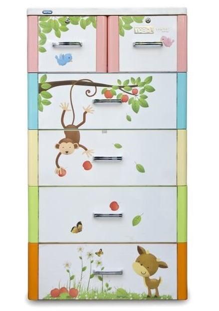 tủ nhựa Duy Tân 5 tầng 6 ngăn Tabi L thiết kế tinh tế với màu sắc đa dạng