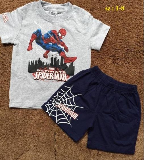 Bộ đồ bé trai Spiderman màu ghi sáng