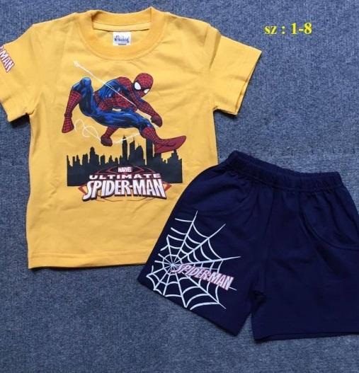 Bộ đồ bé trai Spiderman màu vàng