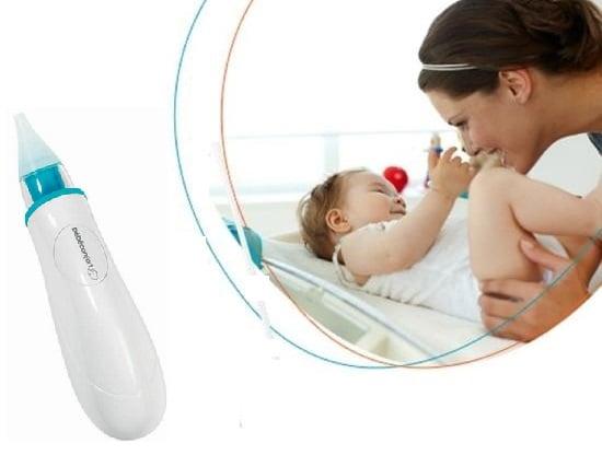 Máy hút mũi Bebe Confort bằng pin an toàn cho bé từ sơ sinh đến 3 tuổi