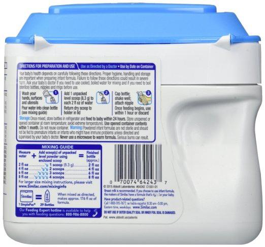 Sữa Similac của Mỹ cho trẻ sơ sinh Advance NON GMO cho trẻ sơ sinh chính hãng