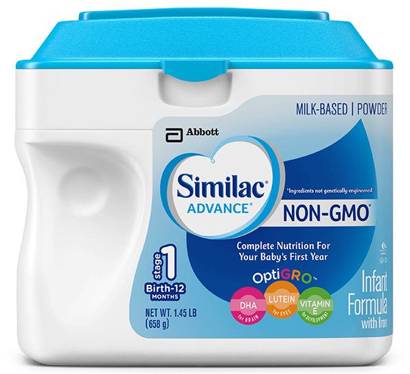 """Sữa Similac Advance Non GMO 658g là dòng sữa dinh dưỡng """"sạch"""" bổ sung thêm sắt với nguyên liệu không sử dụng công nghệ biến đổi gen"""