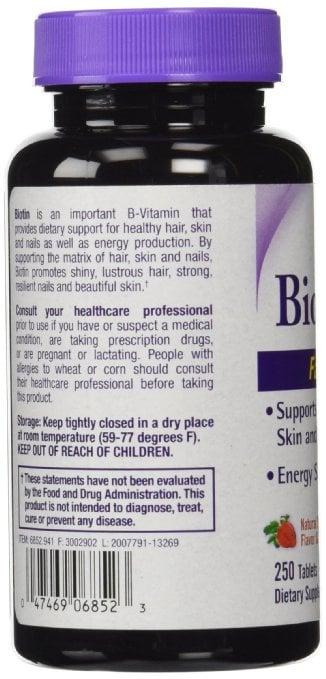 Viên ngậm mọc tóc Biotin 5000 mcg fast dissolve 250 viên 3
