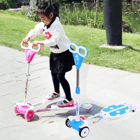 Xe trượt Scooter 2 bàn đứng hình bọ rùa là đồ chơi rèn luyện kỹ năng và thể lực cho bé
