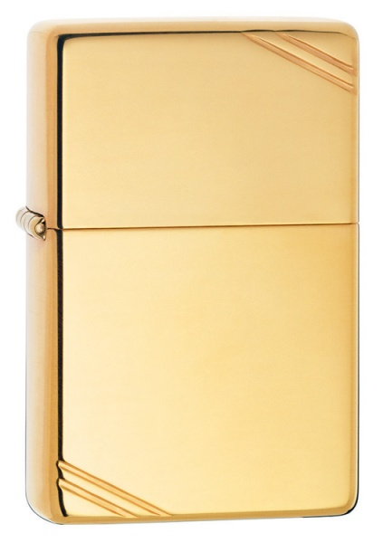 Bật lửa Zippo 270 Vintage High Polish Brass Slashes 1