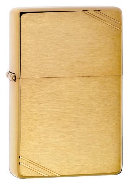 Bật lửa Zippo Vintage Brushed Brass 240 màu vàng xước vân ngang 1