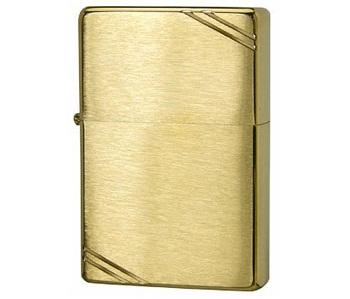 Bật lửa Zippo Vintage Brushed Brass 240 màu vàng xước vân ngang 4
