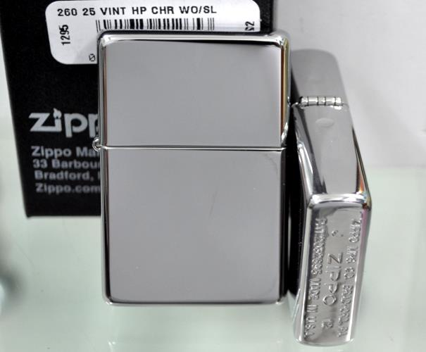 Bật lửa Zippo vintage high polished chrome lighter 260.25  3