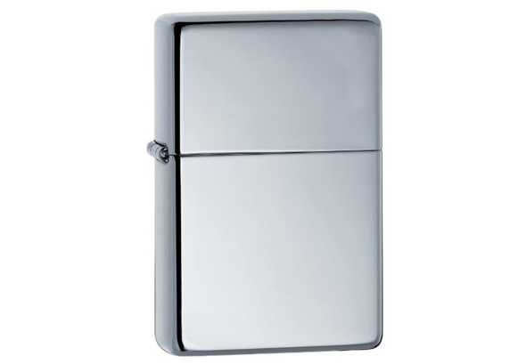 Bật lửa Zippo vintage high polished chrome lighter 260.25  1