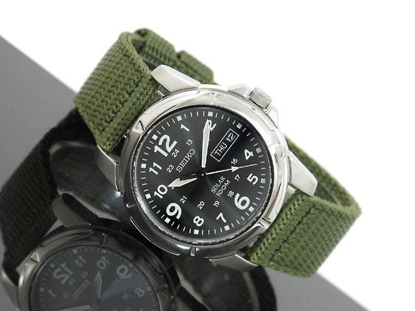 Đồng hồ Seiko Solar SNE095P2 quân đội