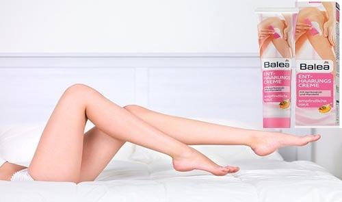 Kem tẩy lông Balea giúp loại bỏ lông trên cơ thể hiệu quả, không đau rát, an toàn với thành phần dầu mơ và hạnh nhân lý tưởng cho làn da bình thường