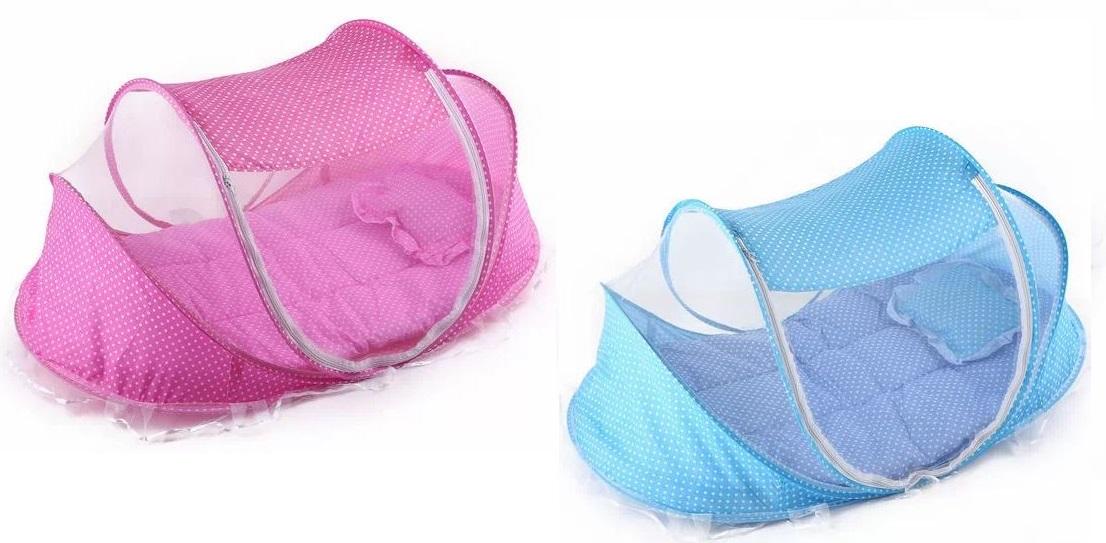 Mùng chụp tự bung chống muỗi cho bé Happy Baby có xanh, hồng