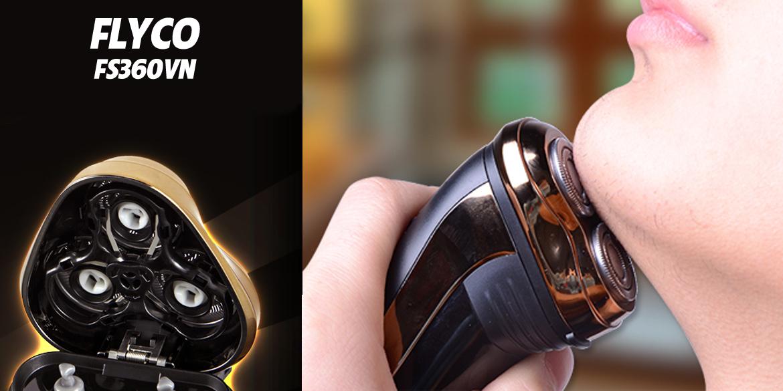 Máy cạo râu Flyco FS360 có lưỡi dao kép sắc bén