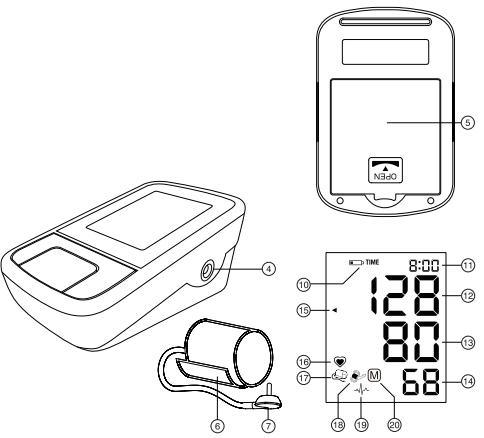 Chi tiết các bộ phận của máy đo huyết áp Microlife