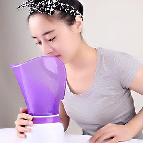 Máy xông mặt giúp làm sạch, thải độc da và cải thiện tình trạng mụn hiệu quả