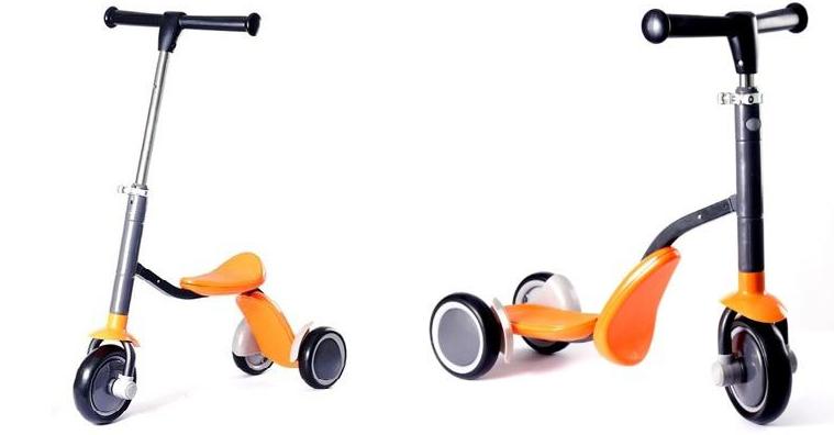 Xe trượt Scooter Nutifood là dòng xe trượt đa năng có thể lắp ráp thành xe chòi chân và xe trượt