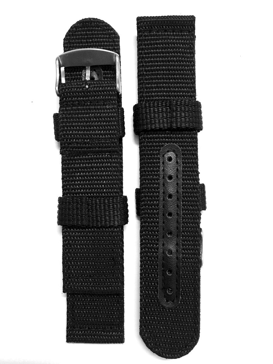 Dây Nato màu đen đơn giản, phong cách được làm từ sợi nylon vải bền, không xù, mềm mịn và trơn mượt