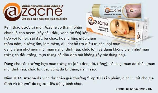 Công dụng của kem trị mụn Azacne