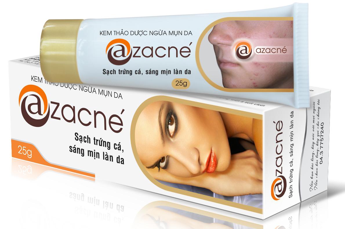 Kem trị mụn Azacne với thành phần chiết xuất từ thảo dược giúp trị mụn vô cùng hiệu quả
