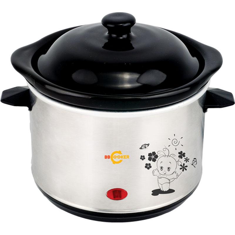 Nồi nấu cháo đa năng Hàn Quốc BBCooker loại nhỏ 0.7L dùng phương pháp nấu chậm để thức ăn chín từ từ và giữ lại hết chất dinh dưỡng trong thức ăn