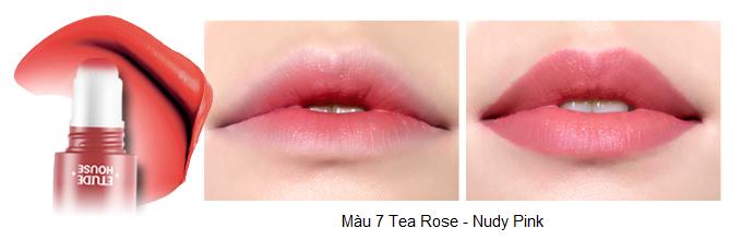 Rosy Tint Lips - Son kem Etude House lên màu cực chuẩn số 8