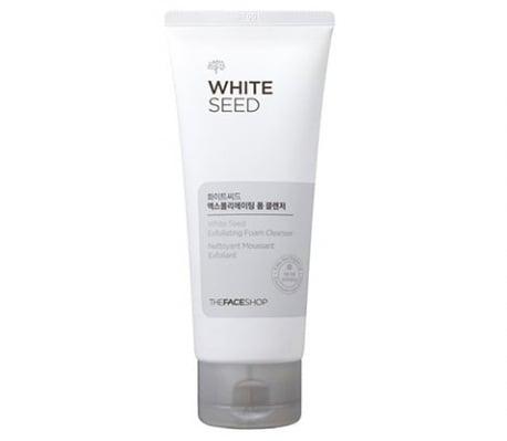 Sữa rửa mặt The Face Shop White Seed Exfoliating Foam chứa công thức làm trắng độc quyền