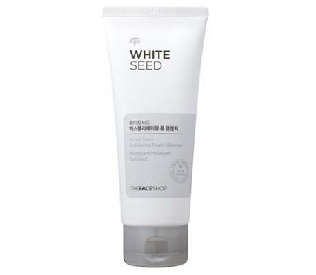 Sữa rửa mặt trắng da The Face Shop White Seed Exfoliating Foam Cleanser nhẹ nhàng lấy đi bụi bẩn trên da