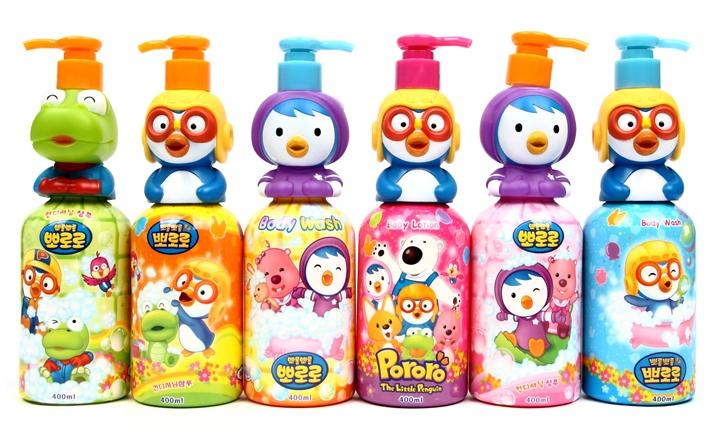 Sữa tắm cho bé Pororo thiết kế nhân vật hoạt hình ngộ nghĩnh khiến khác bé thích thú
