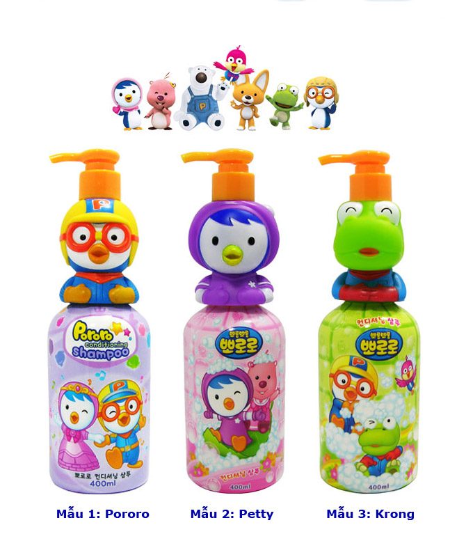 Sữa tắm cho bé Pororo thiết kế nhân vật hoạt hình ngộ nghĩnh 5