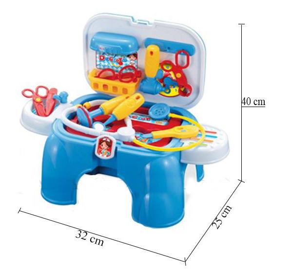 Kích thước Bộ đồ chơi bác sĩ có tay xách màu xanh 008-91A