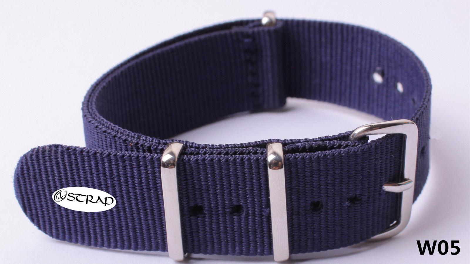 Dây đồng hồ Nato xanh tím than W05 là một trong những loại dây đeo đồng hồ thay thế được ưa thích của giới trẻ