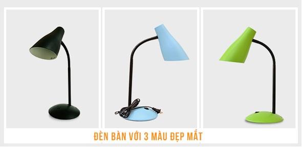 Chiếc đèn bàn học này có 3 màu sắc cho bạn lựa chọn