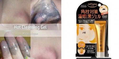 Kose Softymo Hot Cleansing Gel sẽ lột sạch nhân mụn ở các vùng da trên khuôn mặt bạn