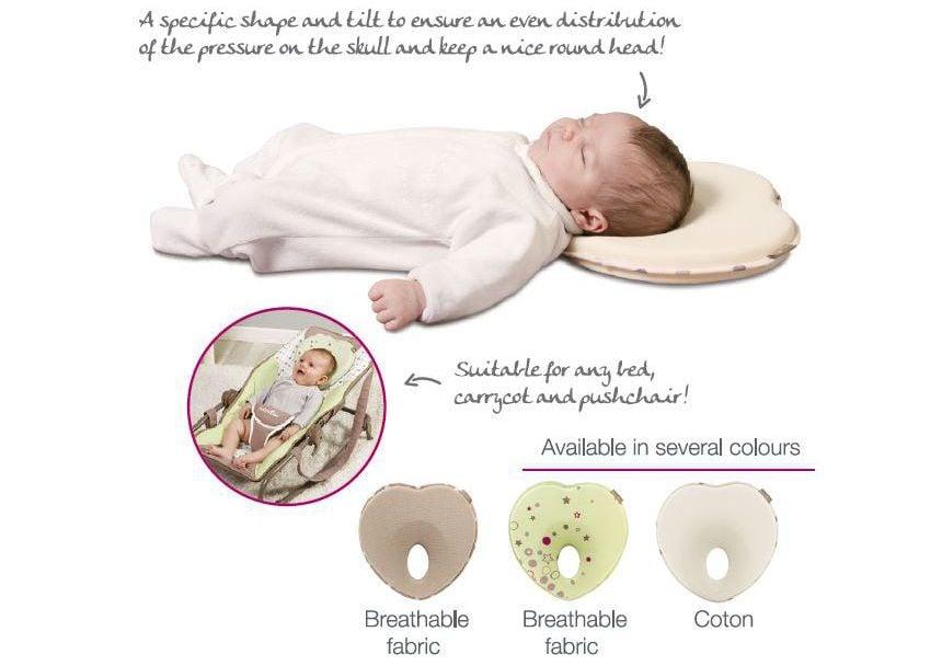 Gối chống bẹp đầu Babymoov giúp đầu bé phân bố đồng đều trọng lượng khi ngủ